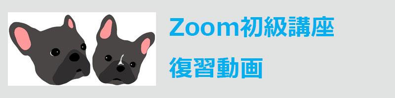 Zoom初級講座・復習ビデオ